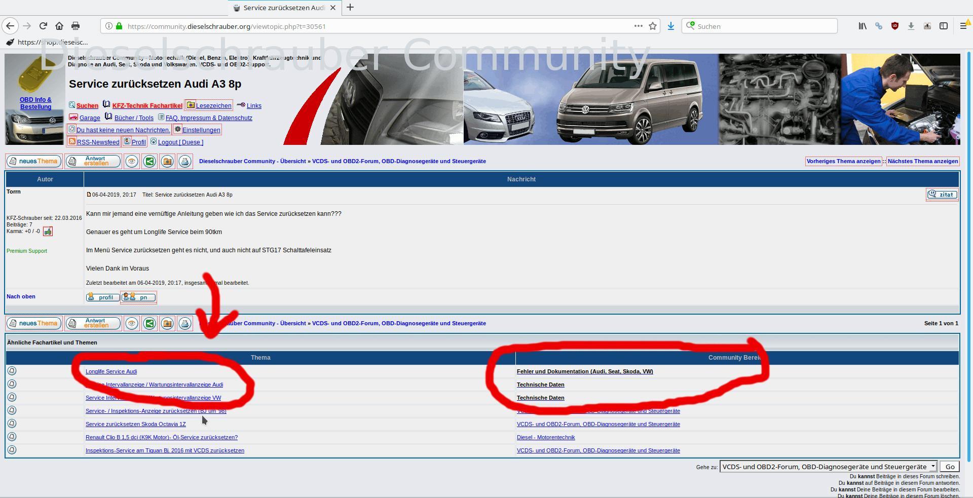 Service zurücksetzen Audi A3 8p: Dieselschrauber Community