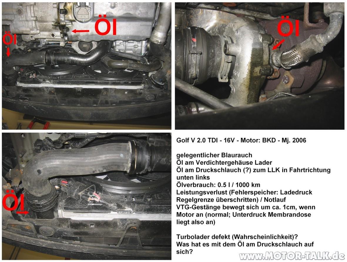 214 L Am Druckschlauch Und Turbo Siehe Bild Laderschaden