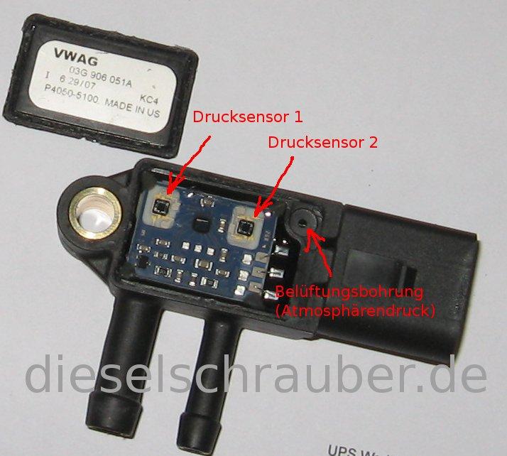 2.0 TDI Differenzdruckgeber G450 Defekt (Gelöst