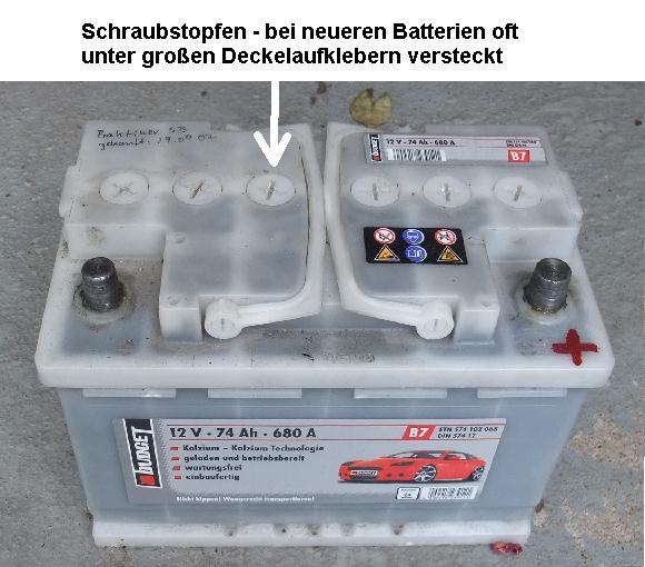 autobatterie öffnen
